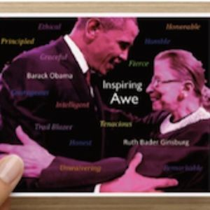 Barack Obama & Ruth Bader Ginsberg 10-note cards